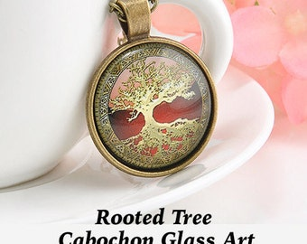 Steampunk PENDANT Cabochon, Rooted Tree  ** CLEARANCE **