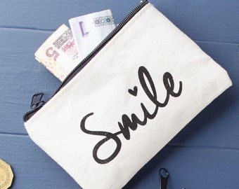 Fabric Coin Purse - Smile Purse