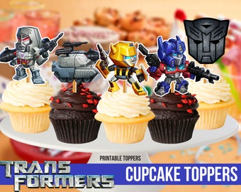 Transformers Cupcake Toppers, Printable, Transformers Party, 8 Transformers Cupcake Toppers, Children Party, 2,5 inches toppers