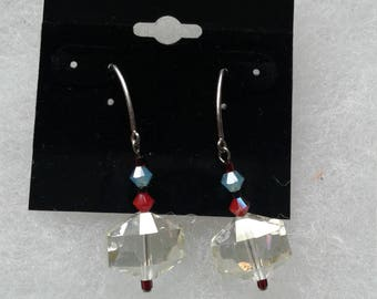 Swarovski and glass bead earrings on .925 sterling earwires