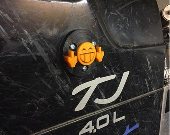 Flipoff2 Guy Jeep Wrangler Radio Antenna Bezel Replacement