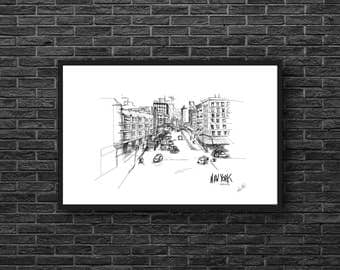 New York City - Meatpacking Illustration