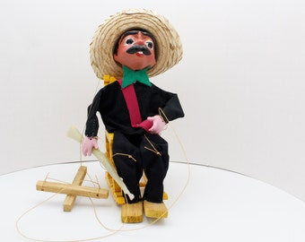 Vintage Bandito String Puppet