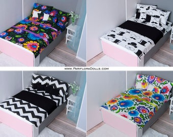 1/6 scale King size bedding set for doll Pullip, Blythe, Momoko, Dal, Shibajuku Girls, only-of-a-kind