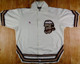 20% OFF Vintage BATHING APE Rare Design Button Shirt/Jacket Original Japan