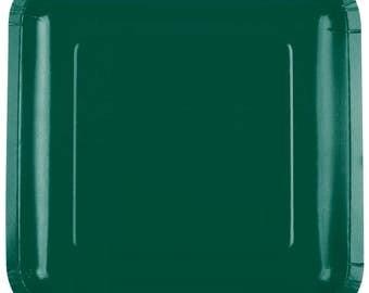 "25 (7"") Dark Green Square Paper Plate, Wedding Supplies, Wedding, Wedding Decor, Party Supplies, Party, Paper Plate, Wedding, Tableware"