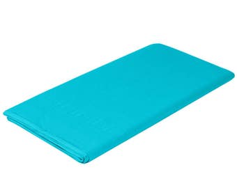 """54""""X108"""" Bermuda Blue Tissue Rectangle Table Cover, table cover, tableware, party supplies, wedding supplies, birthday party, baby shower"""