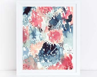 Merveilleux Watercolor Flowers, Printable Abstract Art Print, Floral Watercolor Print,  Abstract Florals, Abstract