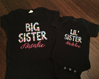 Big Sister and Little Sister Matching Shirts Onesie