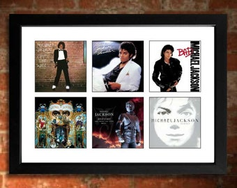 MICHAEL JACKSON Albums Limited Edition Unframed Art Print including Bad, Thriller, Off the Wall etc