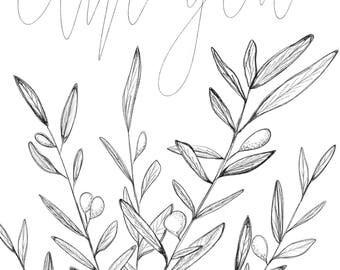 Olive you. I love you print