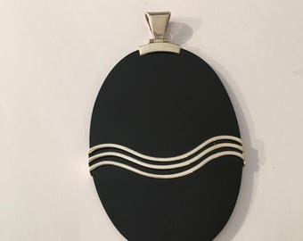 Pendant in onyx and Silver 925