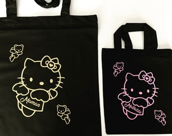 Tote bag mother daughter Hello Kitty - set of 2 tote bag