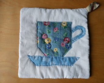 Hand-Quilted Teacup Pot Holder