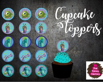 monsters inc. cupcake toppers
