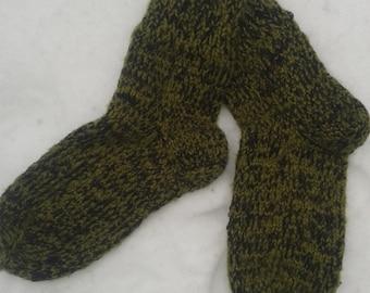 Wool socks for men, winter wool socks, M size, Natural wool, Winter socks, Warm socks, Knitted, Men's socks