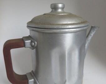 Coffee maker or Pot milk Alu and the 1950s Bakelite handle