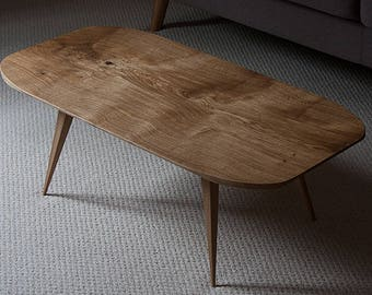 Planform [1] low curved coffee table in English Oak