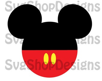 Mickey Mouse Ears Silhouette svg, dxf, clipart, SVG files for Silhouette Cameo or Cricut, Toy Story, vector, svg, dxf ,eps,ai,png,jpg