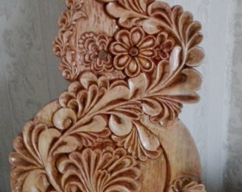 "Wood carving. ""Floral lace""."
