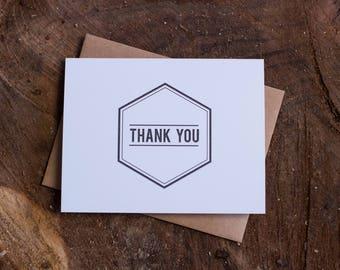 Thank You Hexagon Card Set