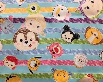 Disney Tsum-Tsum Drawing Fabric Made in Japan
