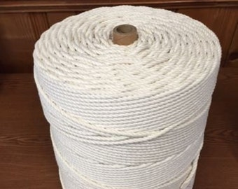 "7/32"" Twisted Cotton Rope- 2160 ft tube"