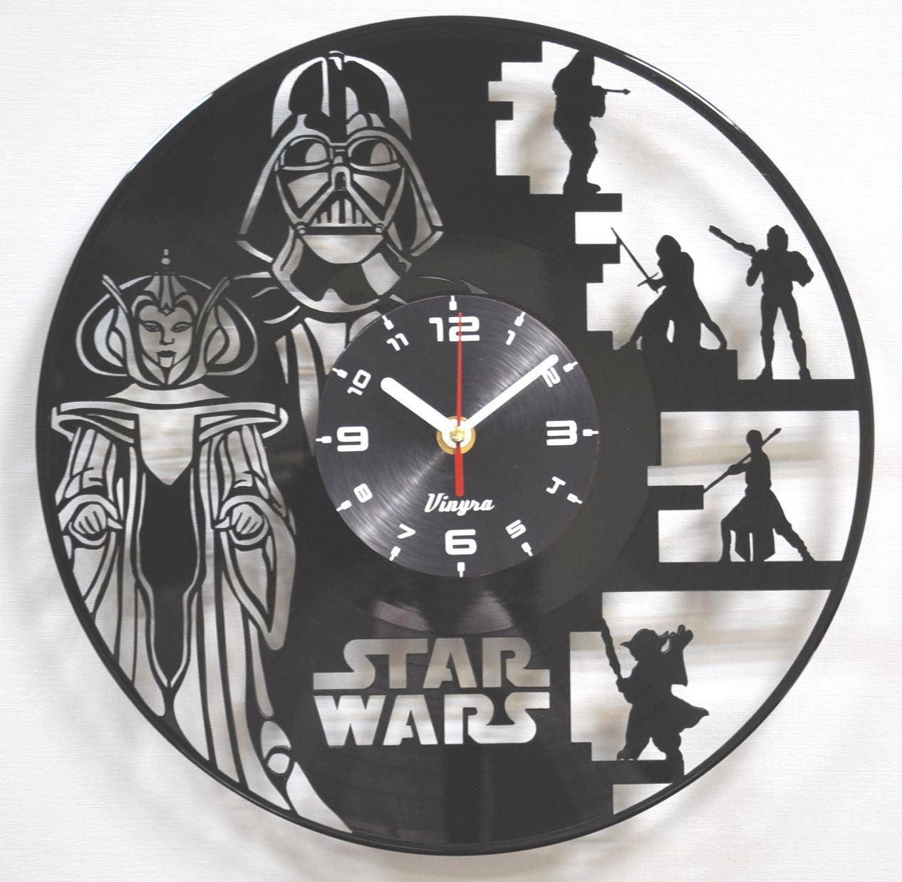 Star Wars Clock Vinyl Wall Clock Darth Vader Art Wall Decor