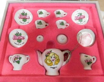 Barbie 25th Anniversery Limited Edition Minature Tea Set one of 25,000 made in 1984 in Excellent Used Condition In original box.