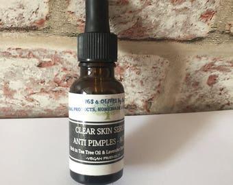 Clear skin anti pimples -acne -scars 100% natural serum
