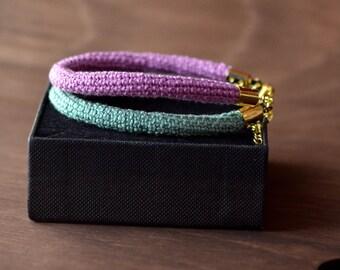 Two-tone bracelet handmade spring
