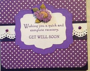 Handmade Get well card with mini tissue box