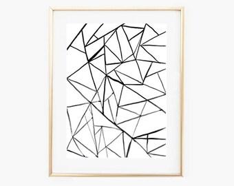 Modern Minimal Print,Black and White Print,Minimalist Prints,digital Wall art,Printable art,Instant Download,Minimal Wall Decor