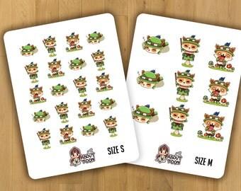 Teemo mini Sticker Sheet,planner stickers,League of legends