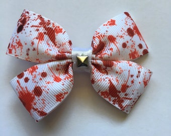 Bloodsplatter hairbow