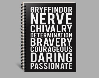 Gryffindor Harry Potter Notebook, Journal, Diary, Blank, Lined