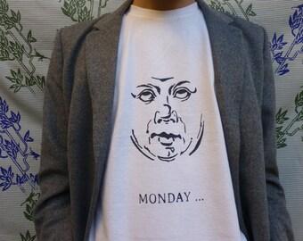 T-shirt sleeves short silkscreen MONDAY... - M/F