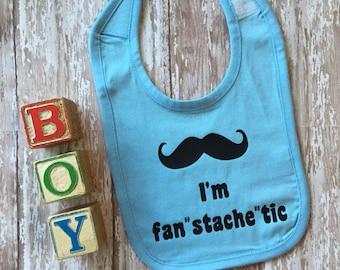 """SALE! I'm Fan""""stache""""tic Mustache Bib"""