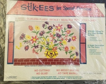 Stik-ees 1990 DD1- Spring Flowers decals
