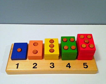 Children's Wooden Counting Board, Educational Toy