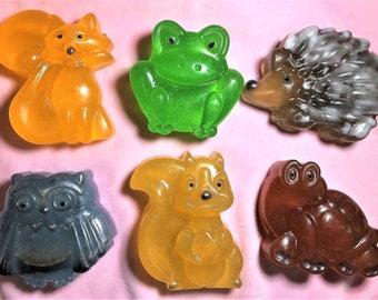"Kids Soap. ""Forest animals"". Fox,Frog,Owl,Turtle,Squirrel, Hedgehog You Pick."