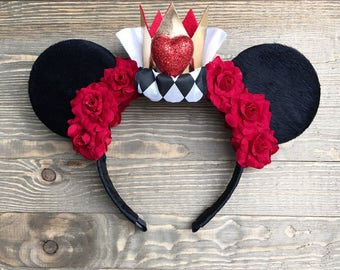 Queen of Hearts  Minnie Mouse Ears Disney Ears