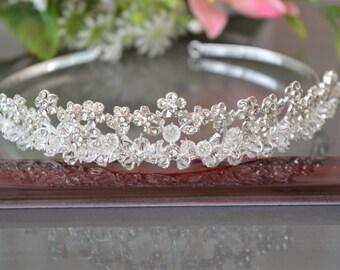 """Diadem """"Adele"""",Bridal Tiara Crystal Tiara, Swarovski Bridal Tiara, Crystal Wedding Crown, Rhinestone Tiara, Wedding Tiara, Diamante Crown."""