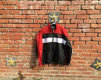 SALE!  FILA Stripes Jacket / 90s FILA Striped Colorblock Jacket Navy Blue Red White