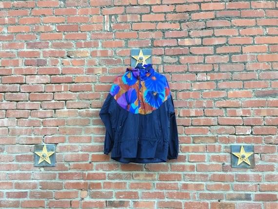 Color Camo Jacket// Multicolor 80s 90s WIndbreaker Large XL XXL