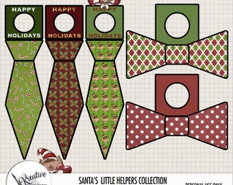 Santa's Little Helpers Printable Holiday Bottle Tags