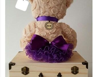 Ruffle Bottoms Monogrammed Baby Keepsake Box in Purple (FREE SHIPPING!)