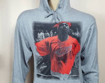 Tupac Wings Gray Lightweight Jersey Hoodie