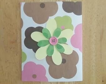 Flower Blank Card