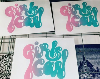 GIRLS CAN print!